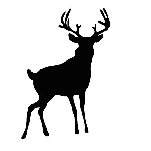 Wawjmr Pie de ciervo de vinilo etiqueta de la pared animales lindos para sala de estar decoración del hogar autoadhesivo etiqueta extraíble mural personalizado 57 * 83 cm