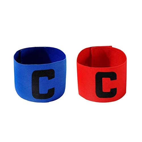 tain Armband,Junior Fußball Elastic Armbinden für Kinder, Klettverschluss für verstellbare Größe, geeignet für mehrere Sportarten wie Fußball & Rugby von,2 Stück ()