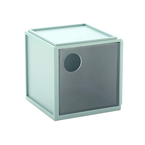 Schubladen-Eitelkeit / Handwaschbecken / Desktop-Aufbewahrungsbox, quadratischer Stifthalter, Kosmetikveredelungsbox, Mattbehandlung, runder Loch-Schubladengriff, Spleißen, praktisches und transparent