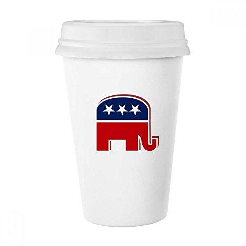 Klassische Republikanische Elefant (DIYthinker Amerika Die Vereinigten Staaten Elefant Emblem Republikanische Partei klassischer Becher weißer Keramik Keramik-Schalen-Geschenk 350 Ml Mehrfarbig)