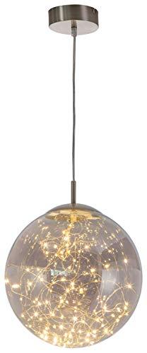 Glas Kugel Leuchte (LED Hänge Decken Lampe Ess Zimmer Glas Kugel Lichterkette Pendel Leuchte Nino Leuchten 34153002)