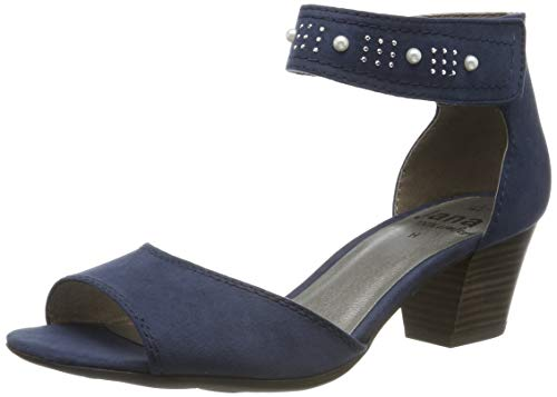 Jana 100% comfort Damen 8-8-28321-22 Riemchensandalen, Blau (Navy 805), 41 EU - Navy Frauen Schuhe
