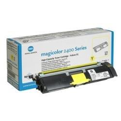 QMS Konica Minolta Magicolor 2400 2430 2500 2450 2400W 2550 2500W Colour Laser Printer Series High-Capacity Toner Cartridge - YELLOW