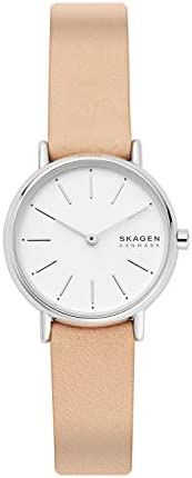 Skagen Signatur Women's White Dial Leather Analog Watch - SKW