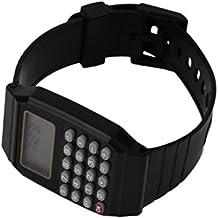 0fb5bd26b4b5 Calculadora de Estudiantes Reloj Digital Reloj de Pulsera de Silicona Color  sólido Calculadora