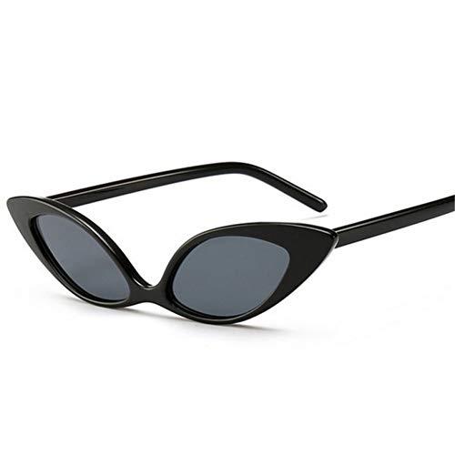YOURSN Trendige Cat Eye Sonnenbrille Frauen Designer Vintage Kleine Sonnenbrille Mode Brillen Shades Brille Uv400-Black