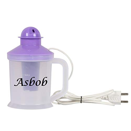 Asbob Facial Steamer with 3 Attachments, Nose Steamer, Cough Vaporizer and Nozzle Inhaler