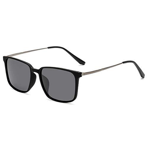 Sonnenbrille Herren Polarisierte Sonnenbrille Modetrend Sonnenbrille Damen 2019 Neue Wilde Paar Modelle Brille,Wie In Der Abbildung Gezeigt, Ist Der Schwarze Rahmen Grau