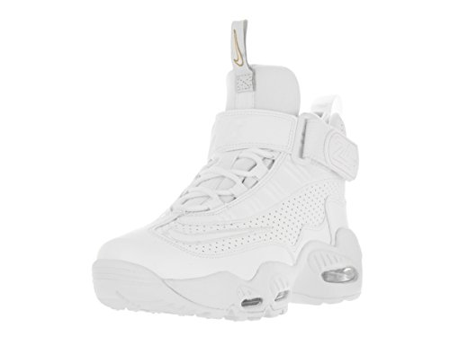 NIKE Kids Air Griffey Max 1 (GS) White/White Blue Glow Mtlc Gld Training Shoe 4.5 Kids US
