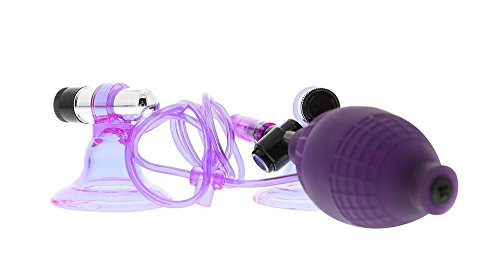 Seven Creations Hi-Beam Brustnippel-Pumpe mit Vibration in lila