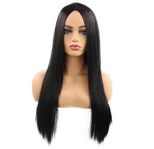 (Wig Lady, Rollenspiel, weibliches Gesicht, langes, gerades Haar,Black)