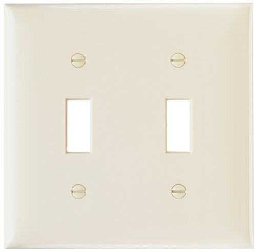Legrand-Pass & Seymour SP2LAUCC30 Wall Plate Smooth Two Gang Two Toggle Easy Install Light, Almond by Legrand-Pass & - Plate Almond Wall Light