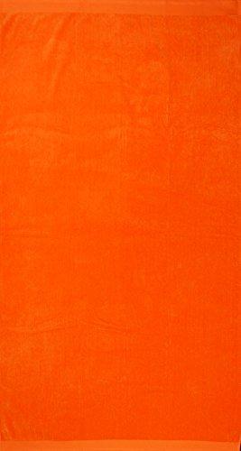 Telo da mare in tinta unita, 100% cotone egiziano, nautic arancione