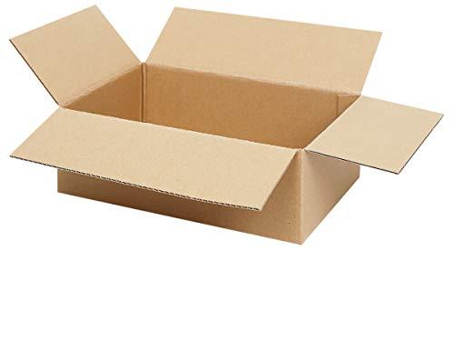 25 Faltkartons 350 x 250 x 100 mm | Kartons geeignet für Versand mit DHL, DPD, GLS und Hermes | wählbar 25-1000 Versandkartons