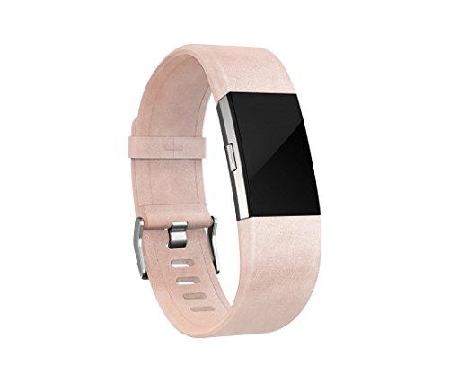 Fitbit Charge 2 Leather Accessory Band - Blush Pink, Large
