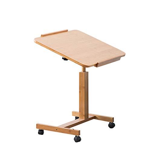 C-J-Xin Sofa-Beistelltisch, Schlafzimmer Wohnzimmer Laptop-Tisch kann einstellbar anheben, es kann Nachttisch mit Roller einfachen Schreibtisch bewegen Haushaltstisch (größe : 70 * 50 * 62~94cm)