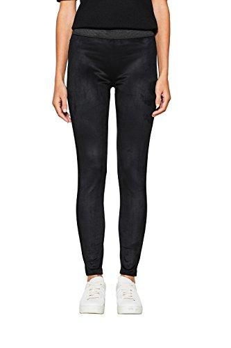 ESPRIT Damen Leggings 097EE1B033, Schwarz (Black 001), 40 (Herstellergröße: L)