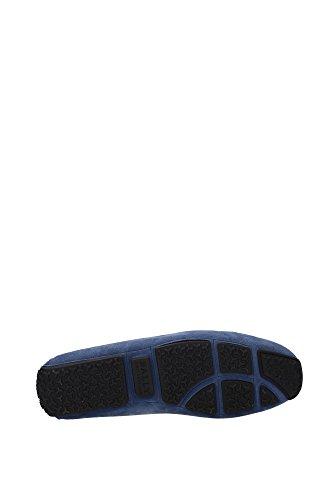 PEARCE1306206919 Bally Mocassins Homme Chamois Bleu Bleu