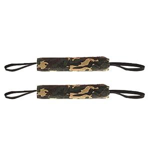 non-brand Sharplace 2pièces Boudin à Mordre avec Poignées à Mâcher en Lin Durable Jouet Oreiller pour Dressage Chien
