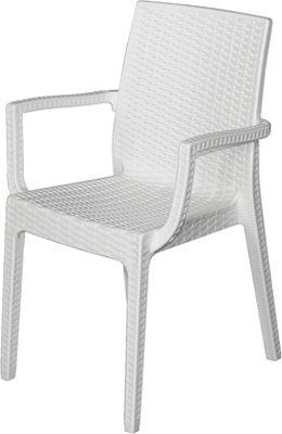 'Stuhl Harz C/Armlehnen Dafne weiß D (Weiß Harz-stühle)