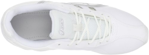 Asics Cheer 6 Synthétique Chaussure de Danse White-Silver
