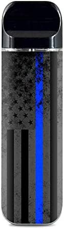 IT'S A SKIN Decal Vinyl Wrap for Smok Novo Pod System Vape Sticker Sleeve/Thin Blue line American Flag Dis