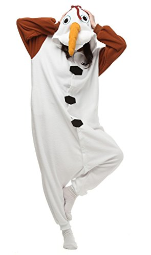 Auspicious beginning Unisex-adult Olaf Cosplay-Kostüm-Karikatur-Schlafanzüge Pyjama Freizeitkleidung Lounge (Olaf Halloween-kostüme Gefrorene)