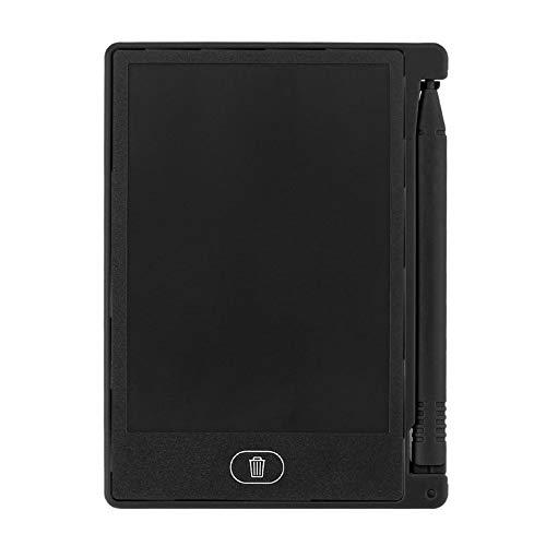 4,4 Zoll Mini Schreibtafel Digital LCD Zeichnung Notepad elektronische Praxis Handschrift Malerei Tablet Pad Geschenk für Kinder - schwarz