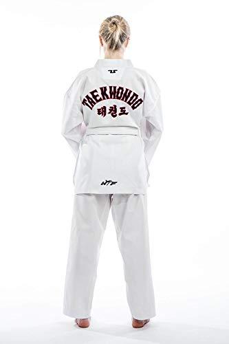 "Taekwondo Anzug Tusah Starter - TKD Dobok - Oberteil mit ""Taekwondo"" Schriftzug - Kampfsportanzug durch den World Taekwondo Verband zugelassen"