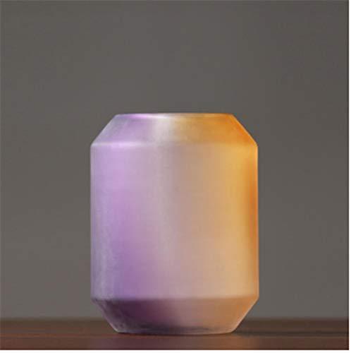 Jarrones Arreglo Floral Sencillo Matorrales Decoración De Cristal Transparente Hogar Salón Mesa De Arreglos Florales Paquete Suave 28 * 20 * 10 Cm