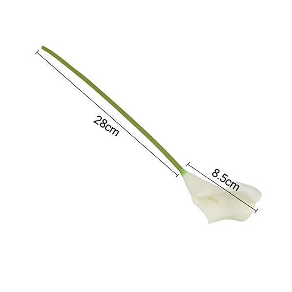 DDG EDMMS Flores artificiales, 10 piezas mini artificial de calla lirio de la boda flores ramo de calla lirio de espuma…