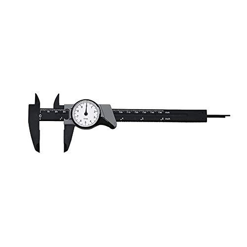 0 - 150 mm Zifferblatt Steigbügel stoßfest Kunststoff Nase Hohe Präzision Mikrometer tragbar Messgerät - Schwarz & Grau