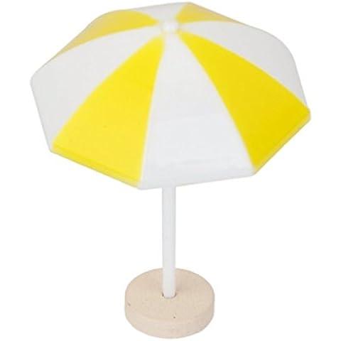 VORCOOL Spiaggia ombrellone in miniatura paesaggio Bonsai Dollhouse Decor (giallo)