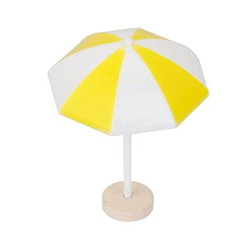 WINOMO Miniatura paesaggio spiaggia ombrellone Bonsai Dollhouse Decor (giallo)