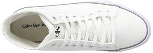 Calvin Klein Jeans Ozzy Canvas, Baskets Basses homme Weiß (Wht)