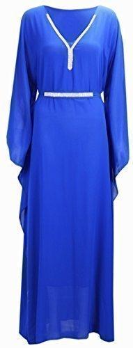 CELEB LOOK - Caftan Femme Grande Taille Clouté N12 - Neuf / Tailles 36-50 bleu roi