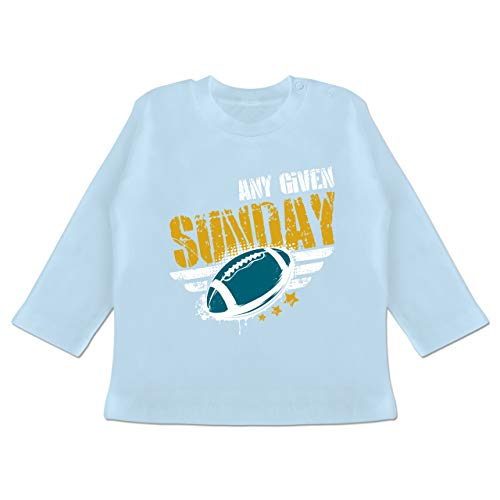 Sport Baby - Any Given Sunday Football Jacksonville - 12-18 Monate - Babyblau - BZ11 - Baby T-Shirt Langarm
