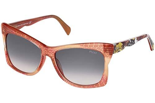 Emilio Pucci Unisex-Erwachsene EP0050 68B 59 Sonnenbrille, Rot (Rosso),