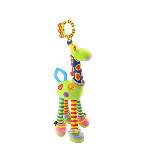 JiaMeng Plüschtier klappert, um die Bettglocke zu besänftigen, Baby Handbells klappert weiches Plüsch Entwicklungsspielzeug für Neugeborene zum ()