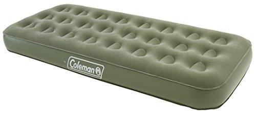 Coleman Luftbett Maxi Comfort Bed Single, Indoor/Outdoor Luftmatratze 1 Person, Velours Gästebett, Komfort Einzelbett, Campingbett für Wandern, Trekking, Festivals, 198 x 82 x 22 cm, max. 148 kg