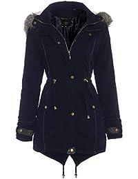 bbcf5a43b5f Amazon.co.uk  Faux Fur - Coats   Coats   Jackets  Clothing