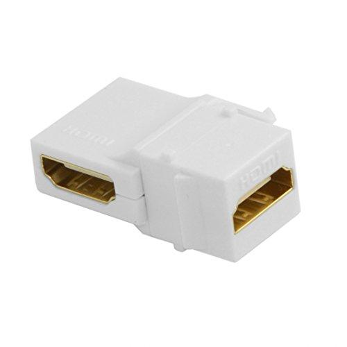 Chenyang Keystone-Modul, HDMI 1.4 Buchse auf Buchse, Snap-In Adapter für Frontplatten, 90 ° abgewinkelt, Weiß Keystone Snap