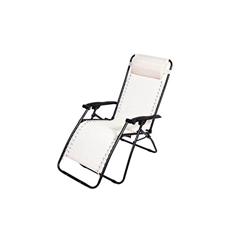 Sedia sdraio reclinabile bianca relax txt mare piscina giardino partenope 836794