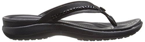 Crocs Busyday Heathered Ballet Wedge Flat Black/black