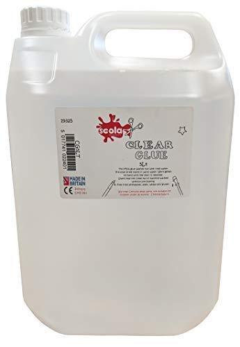 Scola - colla pva, trasparente, lavabile, 5 litri, ecologica, per creazioni artistiche