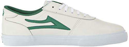 Lakai - Scarpe da skateboard, Uomo Bianco/Verde