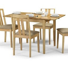 Julian Bowen Rufford Extending Dining Table, Light Wood - inexpensive UK dining table shop.