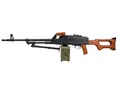 A&K PKM Vollauto Softair / Airsoft Light Machine Gun Maschinengewehr -Echtholzversion- < 0,5 Joule (Machine Air Gun)