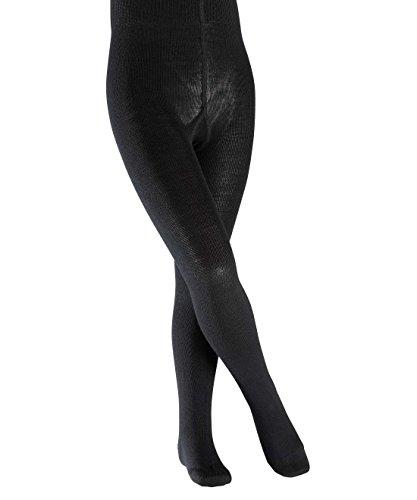 FALKE Mädchen Strumpfhose, Einfarbig, Gr. 134 (Herstellergröße: 134-146), schwarz (Black 3000) (Baumwolle-wolle-strumpfhosen)