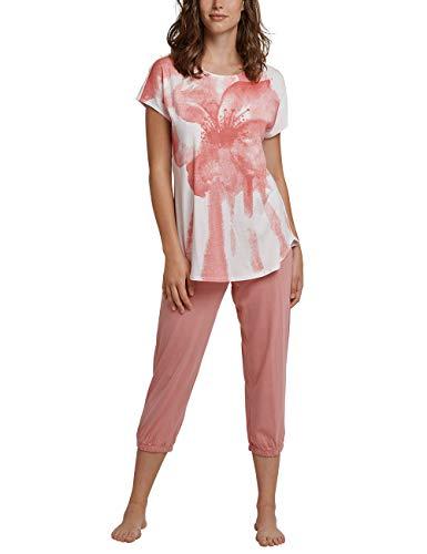 Schiesser Damen Zweiteiliger Schlafanzug, Beige (Creme 408), 38 (Herstellergröße: 038)